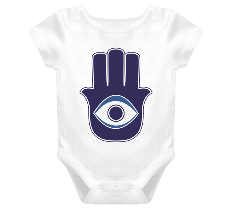 Evil Eye Talisman protect yourself your baby evil eye t shirt contra malocchio apotropaic Hand of Miriam Hand of Fatima Baby one piece