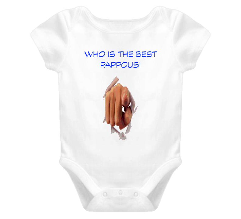 Who Is The Best Pappous Greek grandfather T Shirt Baby One Piece Christmas Gift Birthday Gift Idea T Shirts