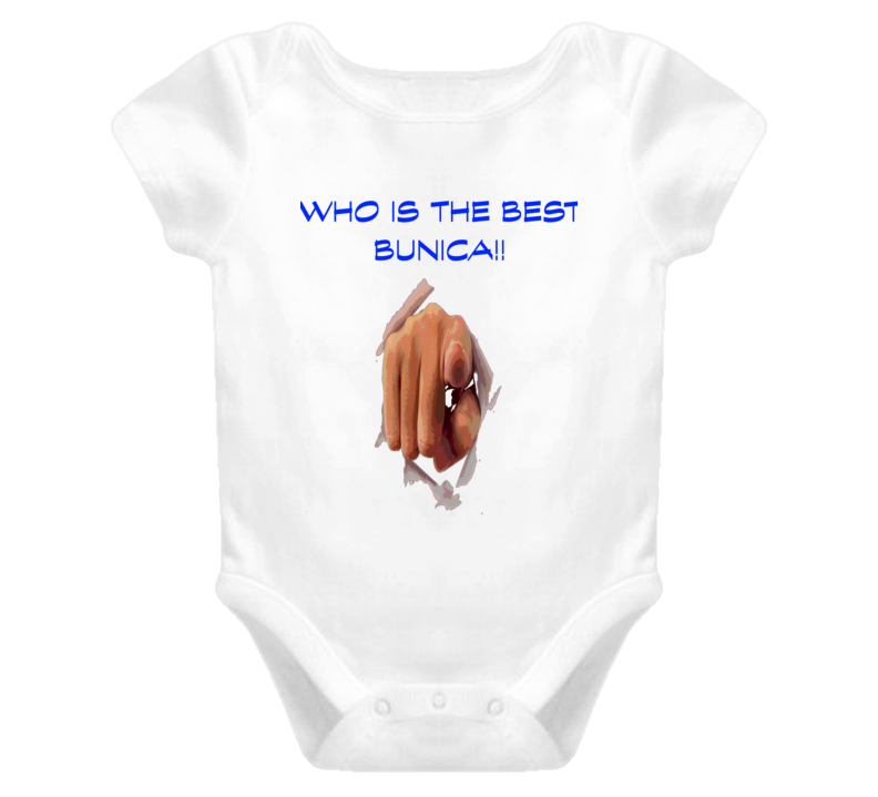 Who Is The Best Bunica Romanian grandmother T Shirt Baby One Piece Christmas Gift Birthday Gift Idea T Shirts