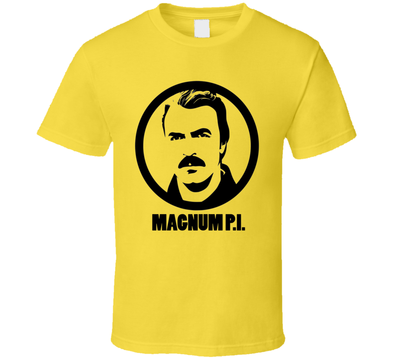 Magnum PI Tom Selleck T-Shirt 80's TV shows Detective Hawaii Ferrari