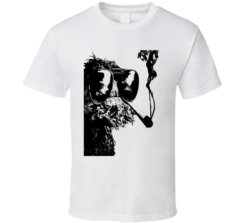 Oscar the Grouch smoking a dube t shirt Oscar Weed smoking shirt marijuana funny shirts