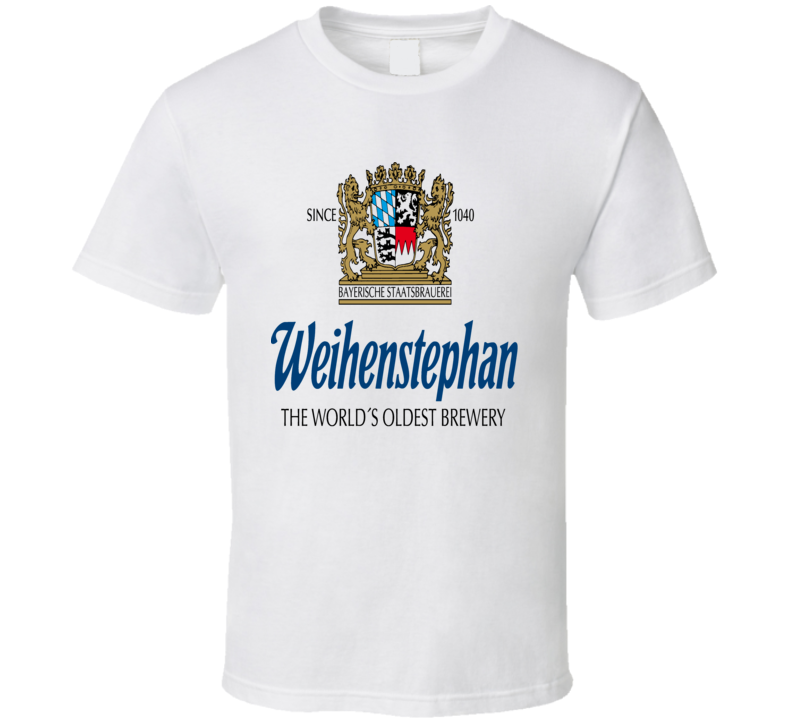 Weihenstephan Brewery World's Oldest Brewery t-shirt Benedictine Abby Monostary Beer t shirt