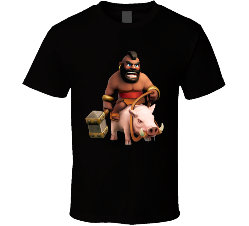 Clash of Clans Hogrider t-shirt Mr. T App game Character Wild Boar Hog rider
