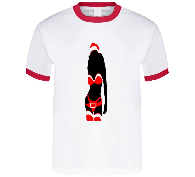 Sexy Santa Sillohete t-shirt Christmas Time Sext shirts gag gifts shirts