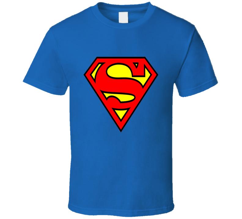 Superman Logo Shield t-shirt retro style chest S Superman superhero comics cartoon TV Movies retro t-shirts