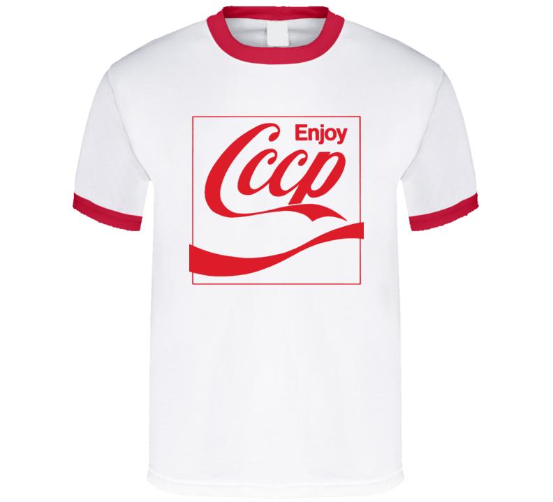 5f2403448db Enjoy CCCP Coke PArody t-shirt cola brand parody Coke Cola funny ...