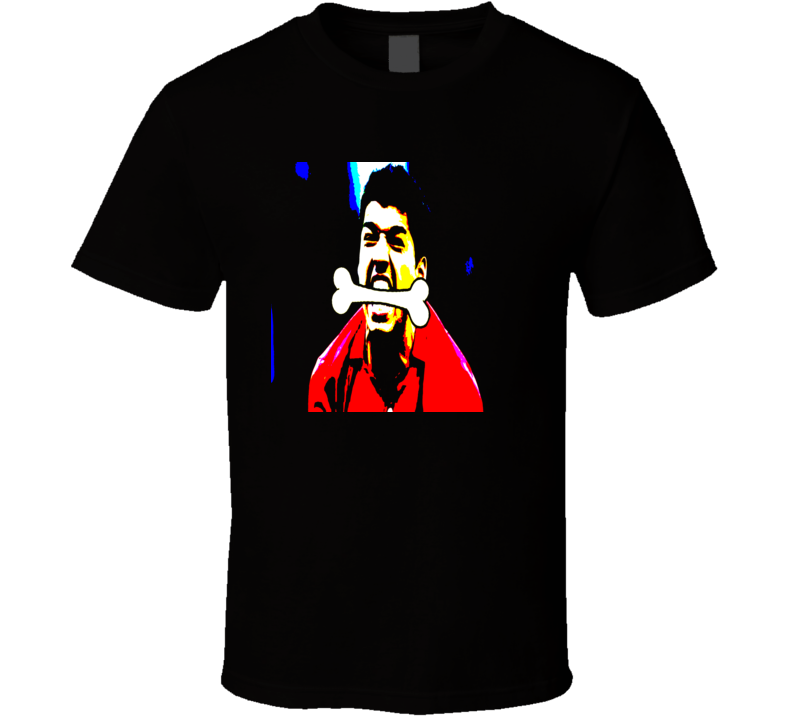 Luis Suarez Bitting Bone Uraguay Soccer World Cup bite FIFA Ivanovic Chiellini funny sports t-shirts T Shirt