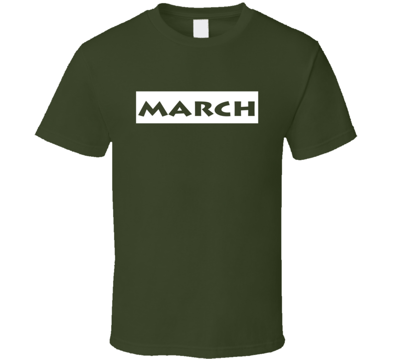 March  t-shirt Birthday Anniversary Special Day Memory shirts Zodiac Lucky Month shirts
