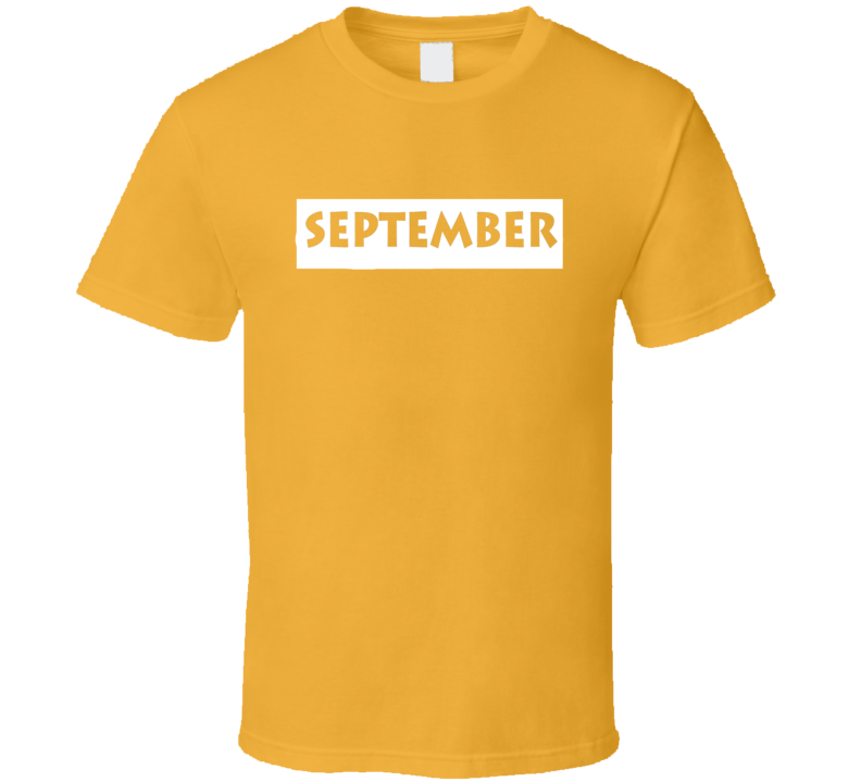 September t-shirt Birthday Anniversary Special Day Memory shirts Zodiac Lucky Month shirts