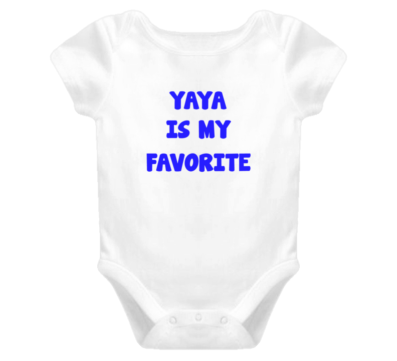 Yayais my Favorite Baby one piece t-shirt style birthday Christmas gift newborn blue