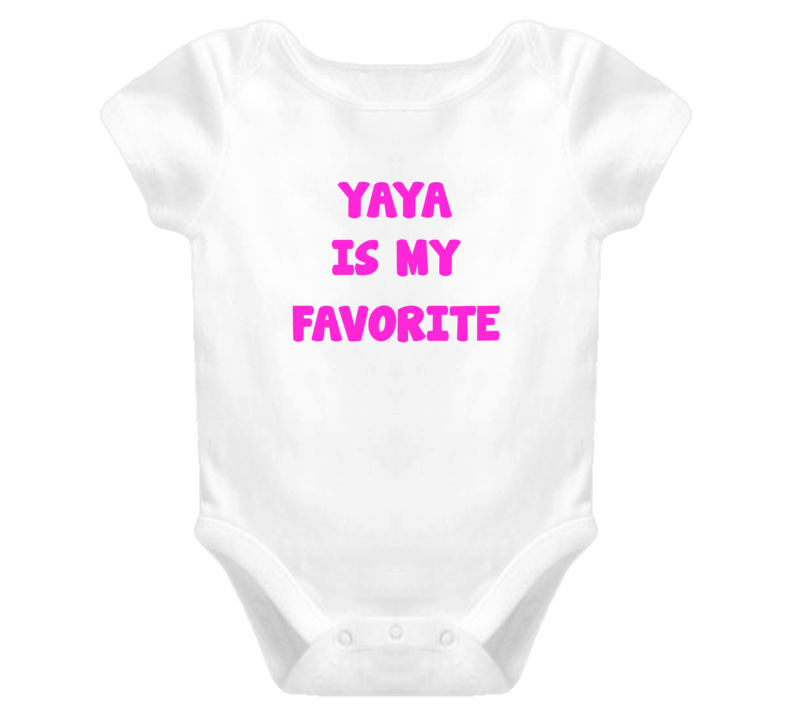 Nonna is my Favorite Baby one piece t-shirt style birthday Christmas gift newborn pink