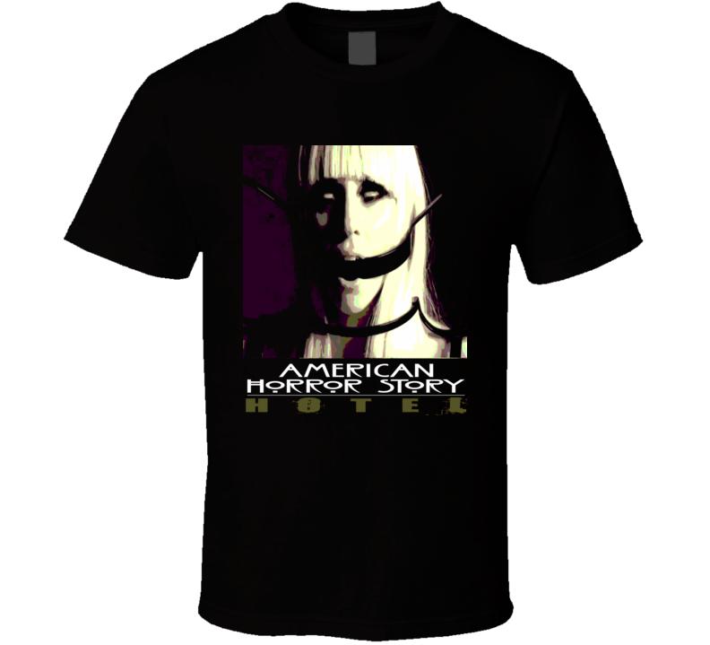 American Horror Story AHS Hotel t-shirt Gaga Bondage straps Cool poster style t-shirts