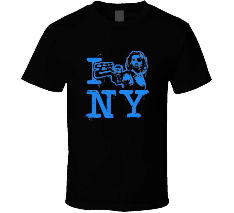 Escape from New York movie inspired t-shirt Snake Plissken I heart NY style with Snake cult classic  Kurt Russell movie t shirts blue