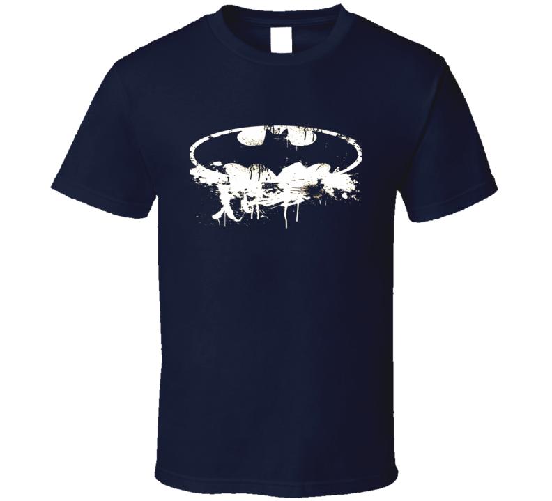 Batman distressed chest logo t-shirt White Action hero super hero comics movies shirts