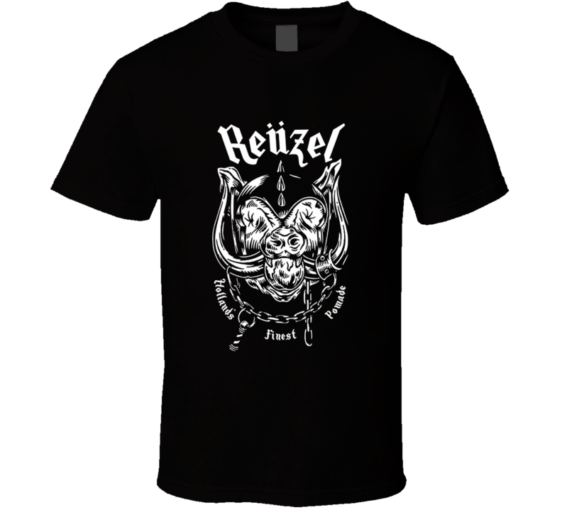 Reuzel pig head boar logo Men's hair pomade t-shirt trending hair styles hip side parts and beards