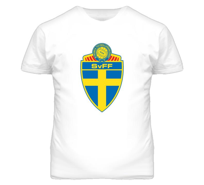 Sweden Futbol Crest t-shirt Soccer t-shirt Sweden