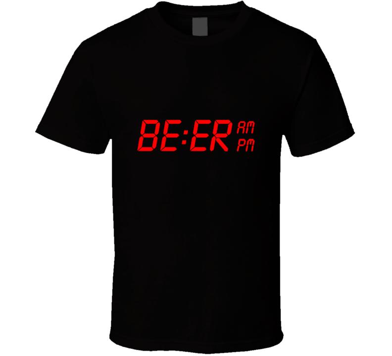 Digital Beer Clock t-shirt FUNNY drinking shirts Pub crawl night shirts