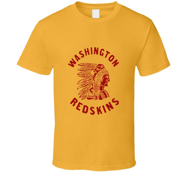 Washington Redskins retro logo Football fan t-shirt Native American head dress logo shirt