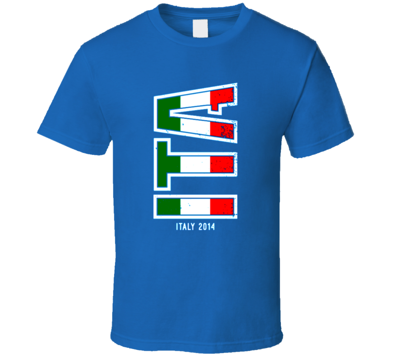 Italy 2014 t-shirt Italian Pride World Cup Soccer distressed COOL