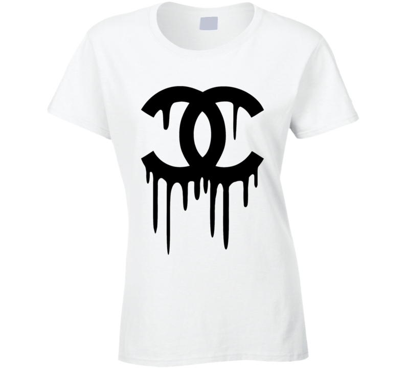Drippig high fashion logo anti fashion establishment trending t-shirt