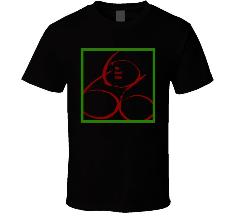 Damien tv series the Omen 666 The Beast rises horror devil possession t-shirt