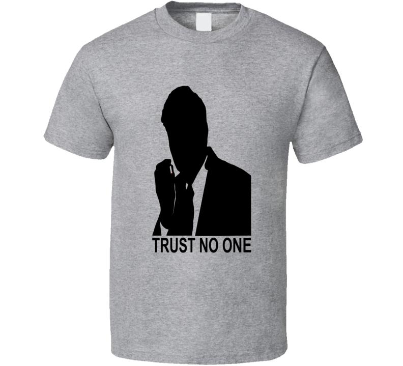 The X Files Smoking Man Sci Fi tv series UFO Aliens conspiracy Cancer Man Trust No One t-shirt