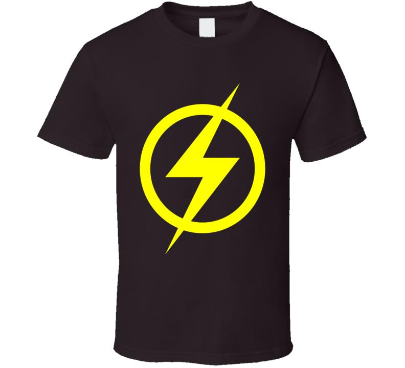 The Flash logo chest lightning bolt emblem Super hero comics tv Justice League t-shirt