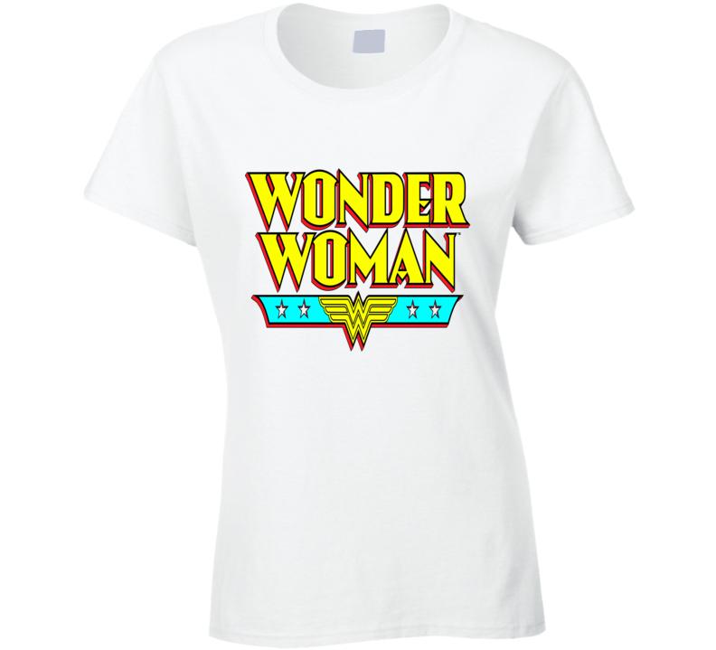 Wonder Woman retro style logo Amazon super hero sexy super powers emblem t-shirt