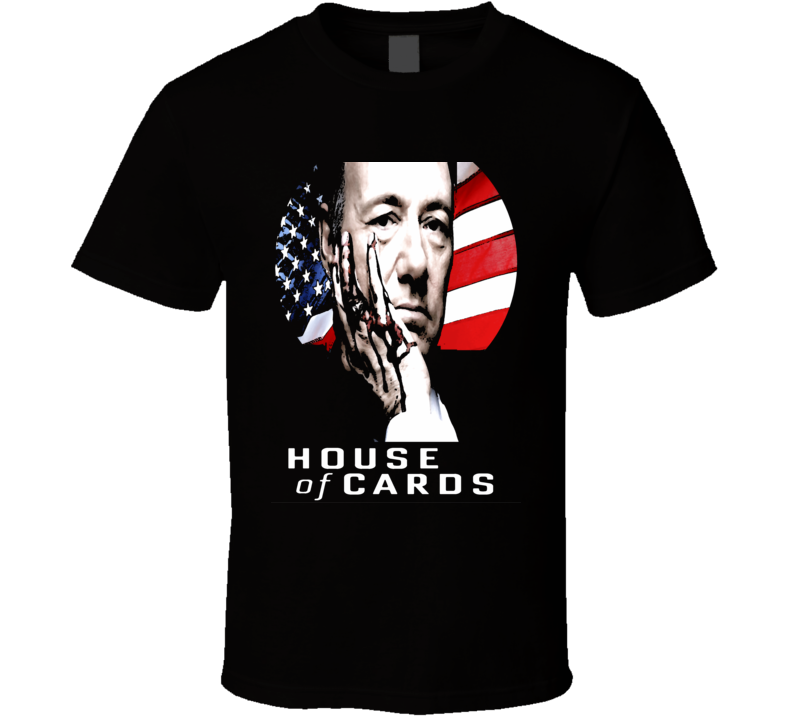 House of Cards Frank Underwood blood on hands with logo new design tv drama t-shirts T Shirt