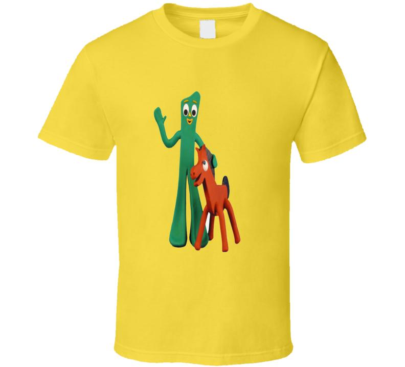 Gumby and Pokey retro children's TV show trending t-shirt