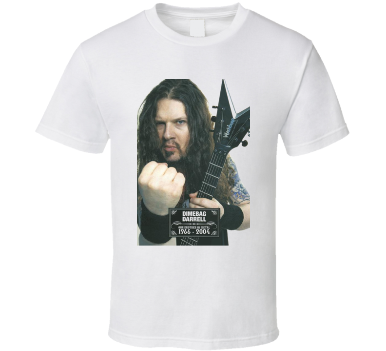 Dimebag Darrel Guitarist Rock Tribute T Shirt