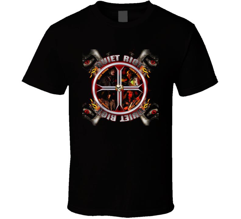 Quiet Riot Metal Rock Group Shot T Shirt