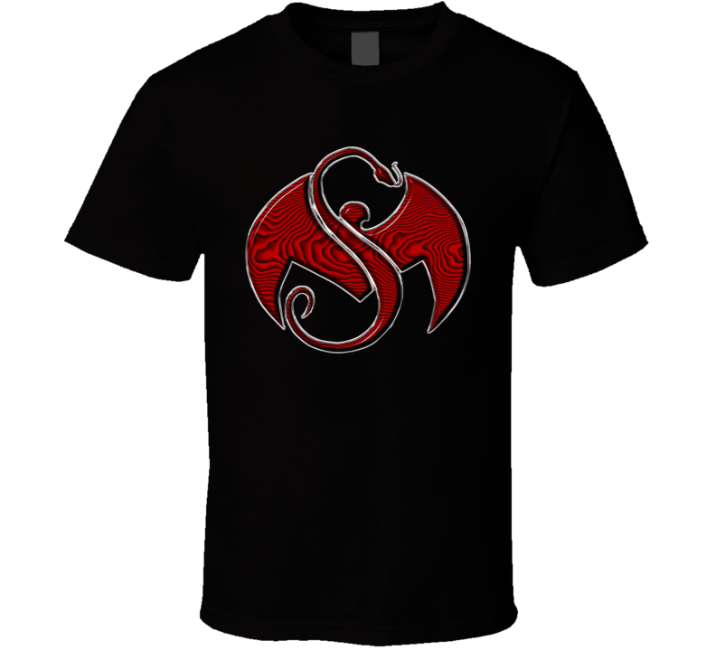 Strange Music Logo Red With Texture T Shirt