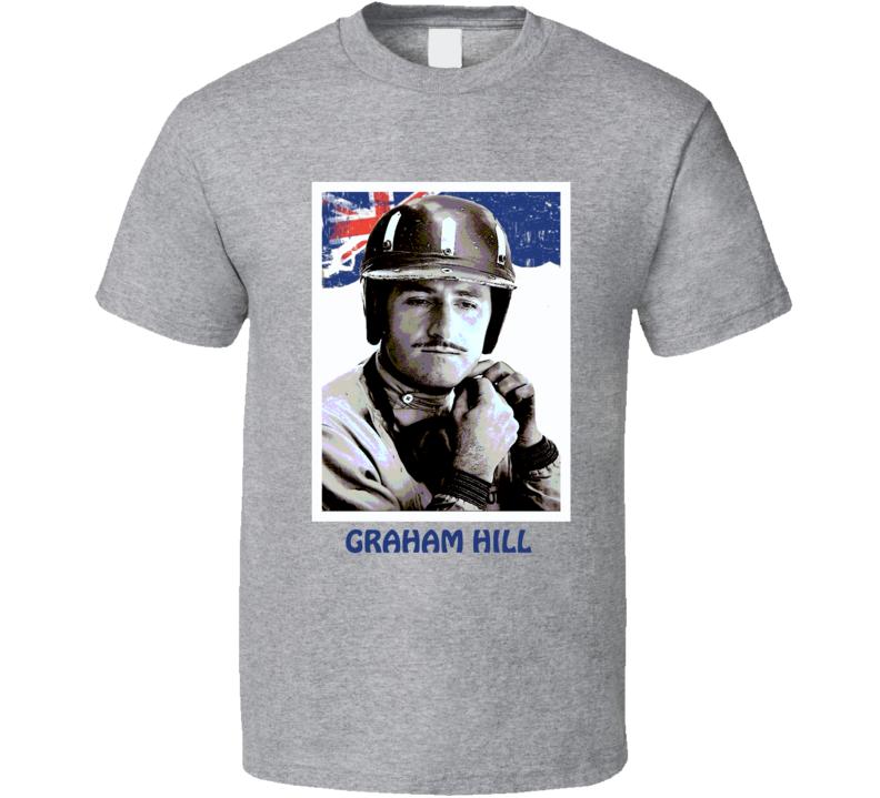 Graham Hill British Racing champion Lotus Triple Crown of Motorsport Formula 1 Gran Prix retro trending t-shirt