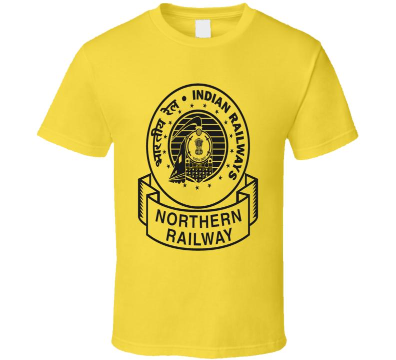 Indian Railways Logo Northern Railway cultural t-shirt black