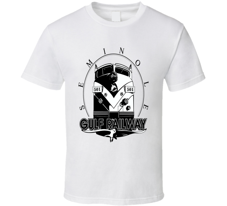 Seminole Gulf Railway retro logo USA transportation train fan t-shirt