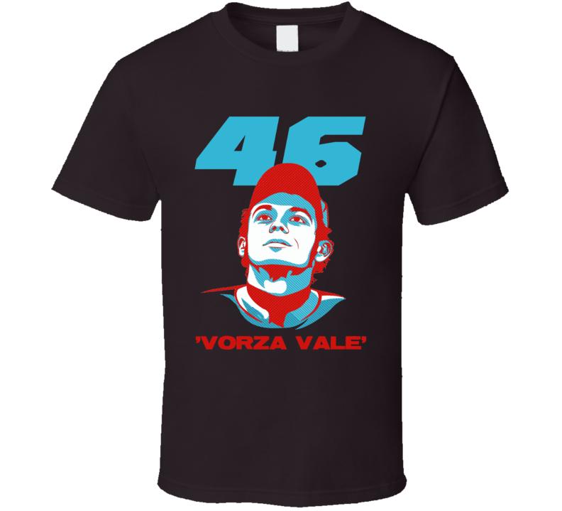 Valentino Rossi Italian Moto GP star 46 vorza vale racing fans trending race day t-shirt