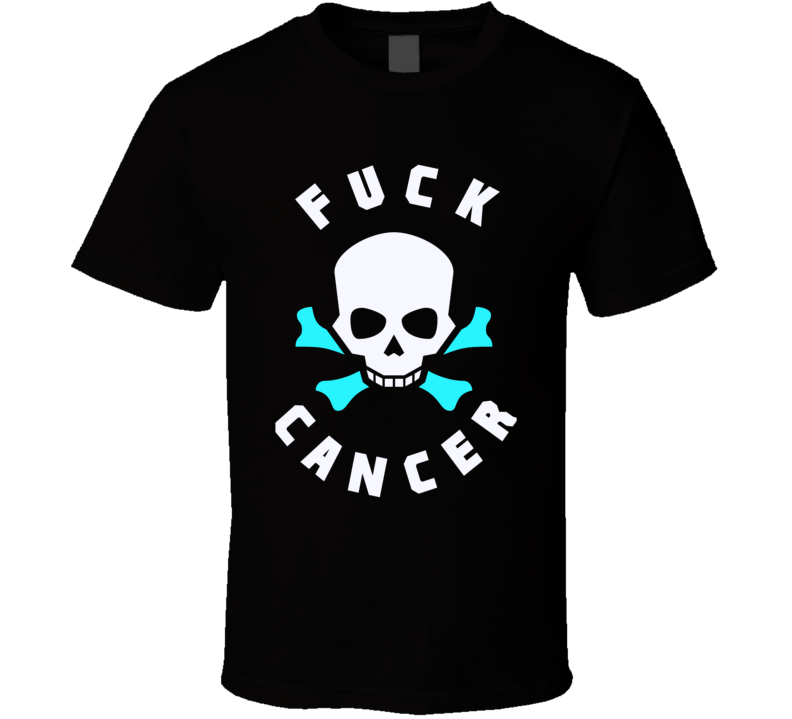Fuck Cancer t-shirt Teal Ribbons - all cancers survivor support family t-shirt