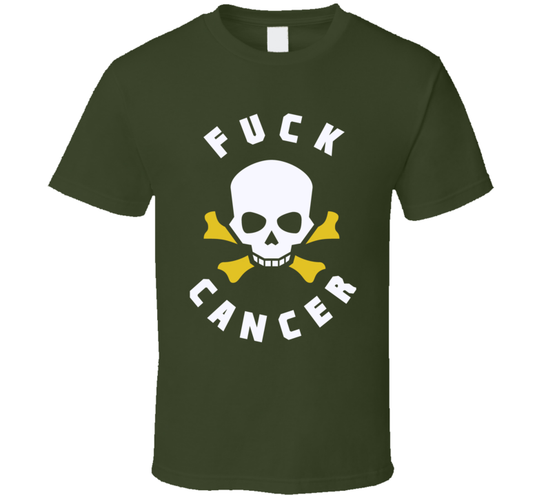 Fuck Cancer t-shirt Gold Ribbons - all cancers survivor support family t-shirt