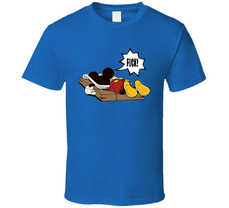 Mickey Mouse in mousetrap funny cartoon classic rude adult style t-shirt
