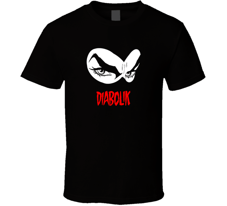Diabolik Italian comic series anti hero black and white eyes logo