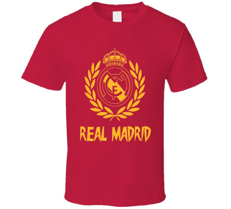 Real Madrid Soccer champions logo EUFA Spanish Futbol fan t-shirt
