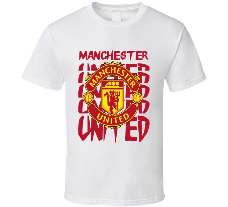 Manchester United Man U logo design English Soccer fan t-shirt