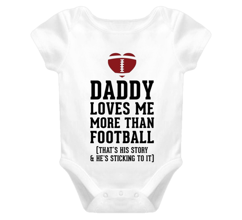 Love more than football Baby One Piece t-shirt baby onesie football jumpsuits