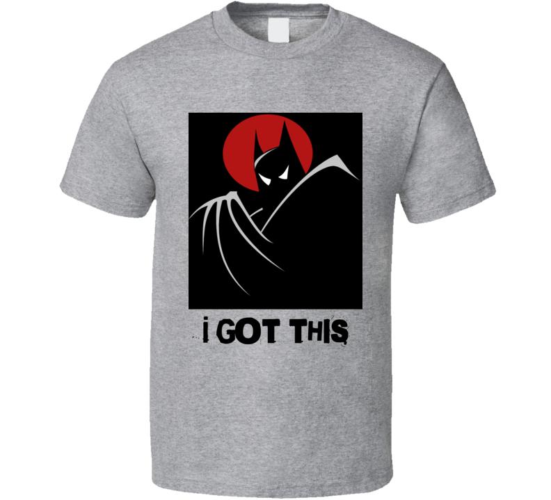 Batman I got this Animated comics movie cartoon superhero man of steel t-shirt