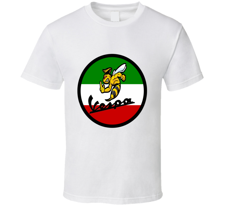 Italian Pride motor scooter Vespa Wasp with flag cool cycling trending t-shirt