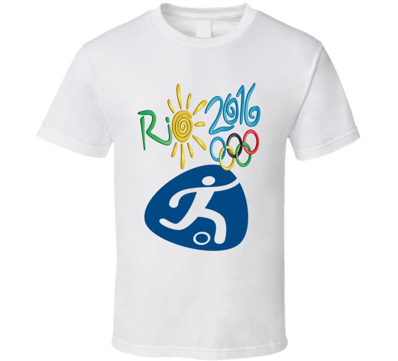 2016 Rio Olympics sports icons football soccer logo t-shirt