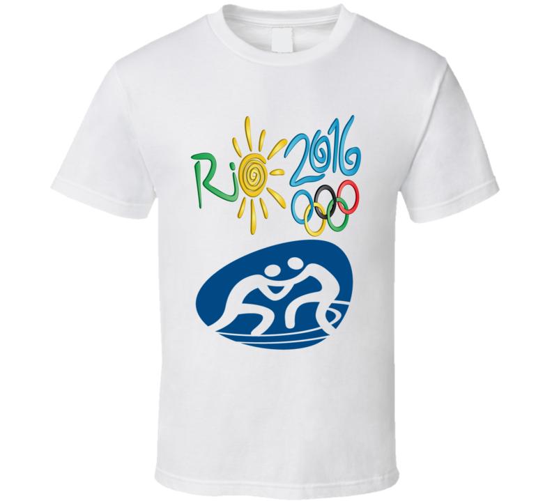 2016 Rio Olympics sports icons wrestling logo t-shirt