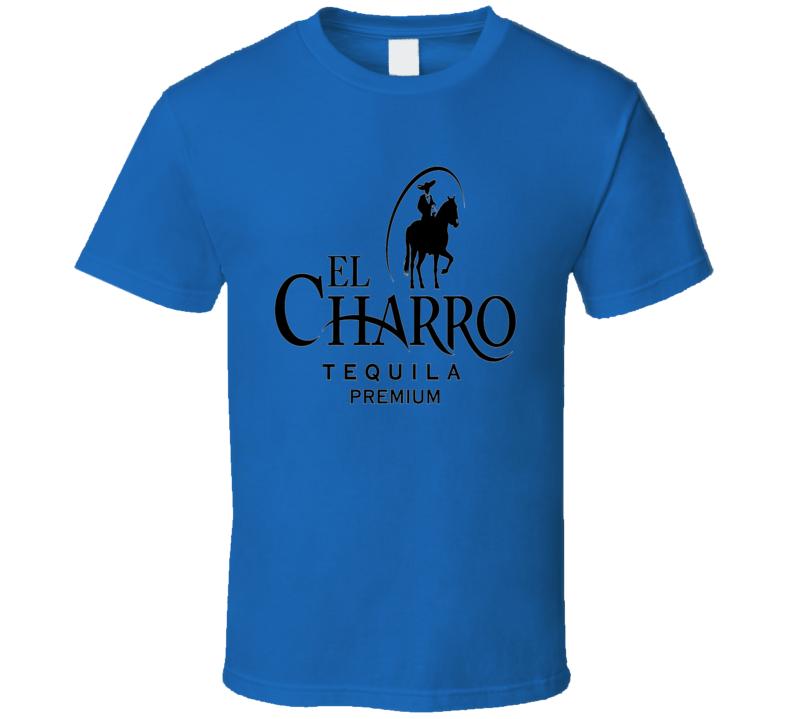 El Charro premium tequila brand logo trending drinking t-shirt