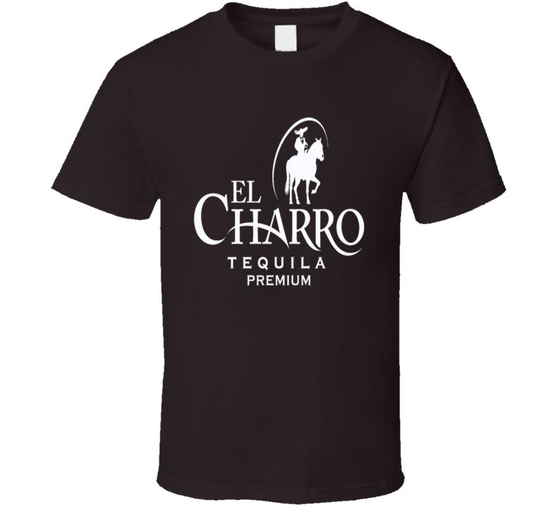 El Charro premium tequila brand logo trending drinking t-shirt 2
